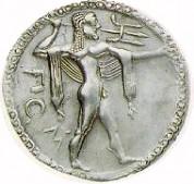 una moneta coniata a medma