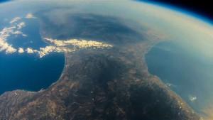 calabria dallo spazio