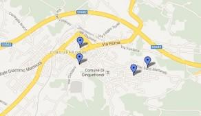 mappa cinquefrondi volontari