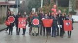 Rinascita scioperano e manifestano in strada