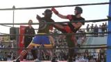 Un incontro di kickboxing