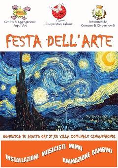 LOCANDINA FESTA DELL'ARTE UNICO LIV