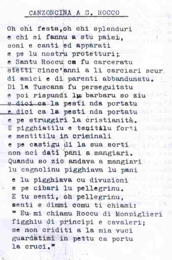 san rocco canzoncina 237