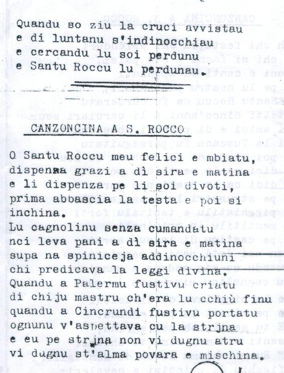 san rocco canzoncina 238