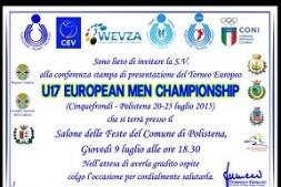 invito presentazione europeo pallavolo